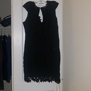 Charlotte Russe 1X Black Lace Bodycon Dress